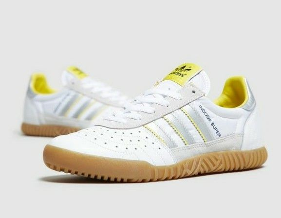 Manchester-Indoor Supers in white/grey/yellow | Adidas sneakers ...