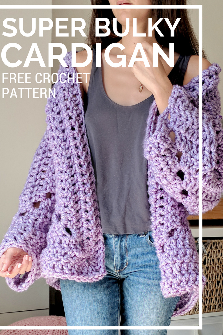 Super Chunky Hexagon Cardigan Pattern Free from The Snugglery ...