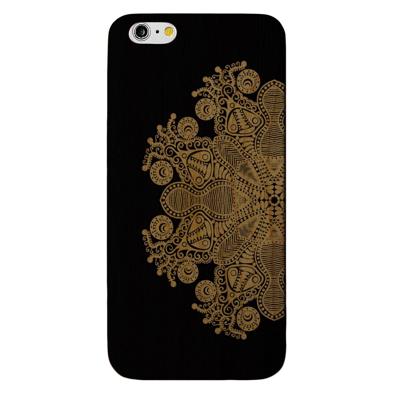 Paisley Floral Fractal- Laser Engraved Wood Phone Case (Maple,Cherry,Black,Cork)