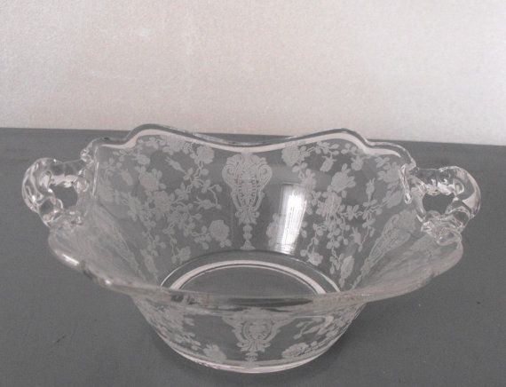 Cambridge Rosepoint 2 handle basket bowl 6 1/2 by ricksdepot, $29.99