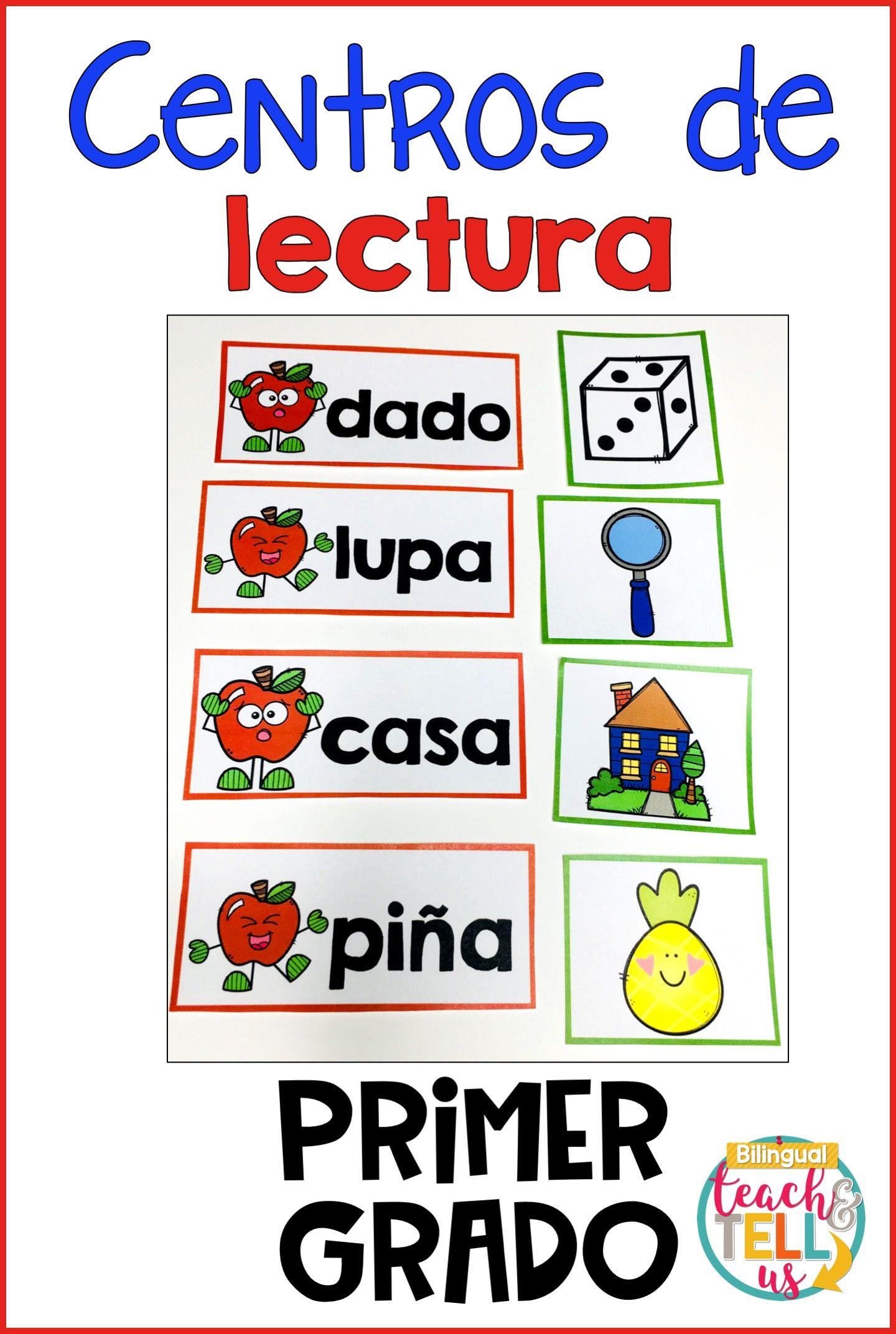 First Grade Literacy Centers Spanish September Centros De