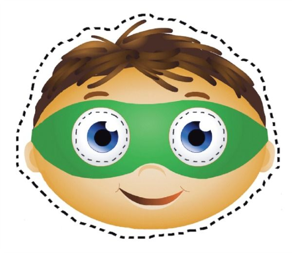 photograph about Super Why Printable named Printable Halloween Masks Superhero Get together Tremendous why