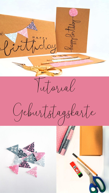 Diy Geburtstagskarte Geburtstagskarte Karte Basteln Geburtstag