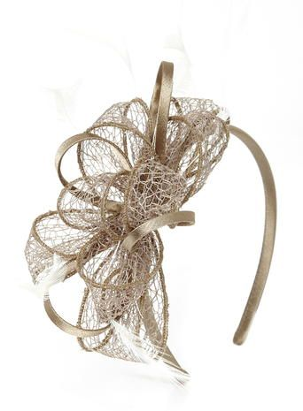 Lacey Loop Headband Fascinator Mink
