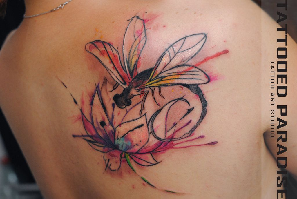 Pin By Jasmin O On Tattoo Ideas Watercolor Dragonfly Tattoo Small