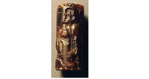 The Gilgamesh Cylinder Seal, Assyria, 7th Century... at Ancient & Medieval History