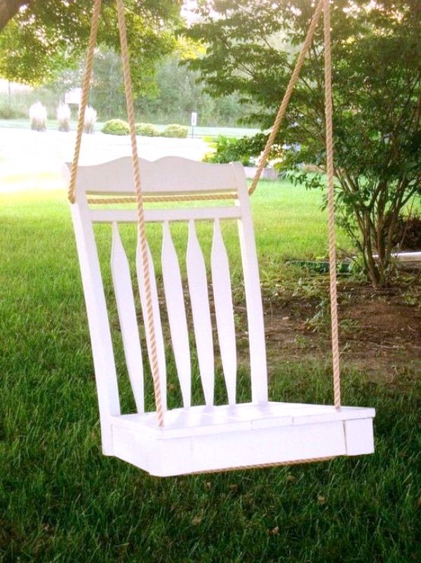 6 DIY Repurposed Decor Projects Chair swing Repurposed and Swings