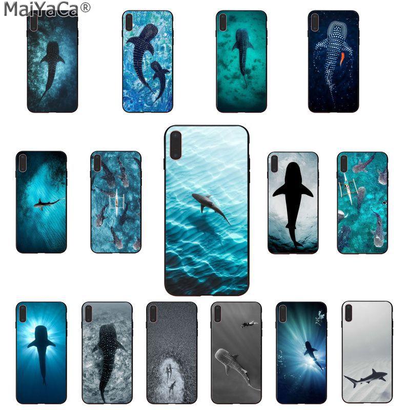 MaiYaCa Ocean Whale Shark Swimming Luxury Phone Cover for