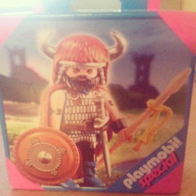 Nate's Grandad bought him back Viking playmobil from China! Awesome #viking #playmobil #toy #present