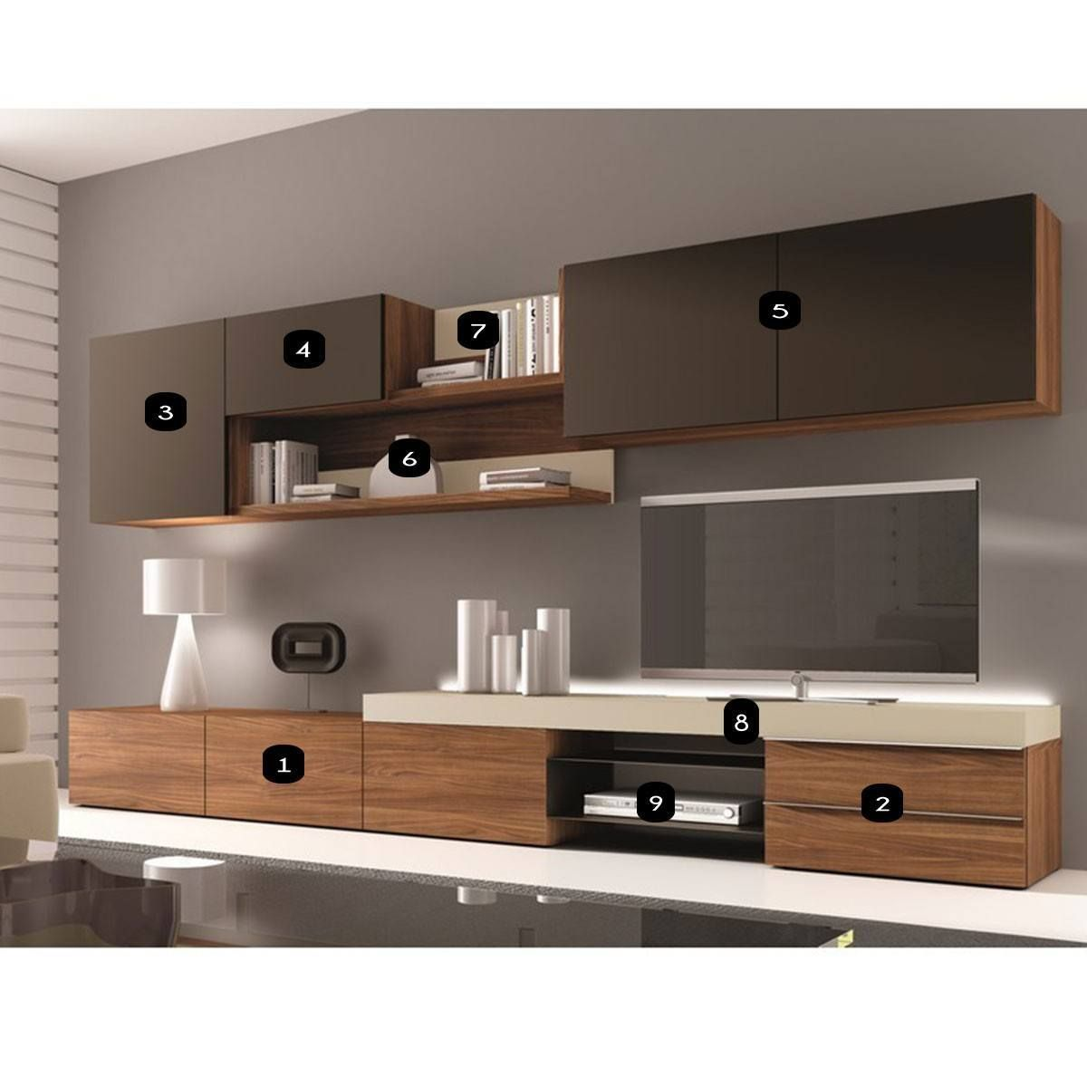 Meuble Mural Tv Laqu Design Osane Atylia Biblioth Que  # Atylia Meuble