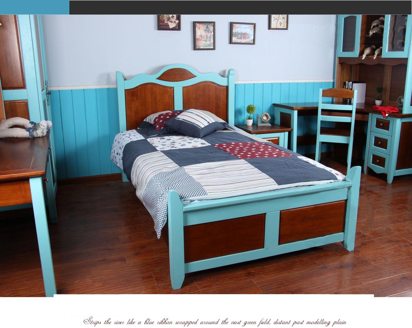 Современная деревянная детская кровать на ножках в ...