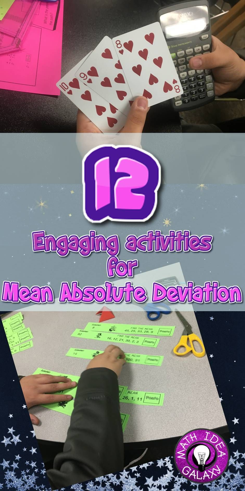 12 Engaging Activities for Mean Absolute Deviation (MAD)   Learn math  online [ 1884 x 941 Pixel ]