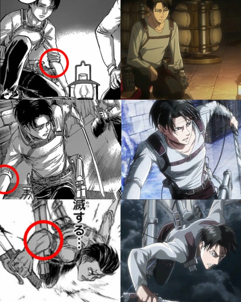 The fact that the anime really avoided Levi showing as ...
