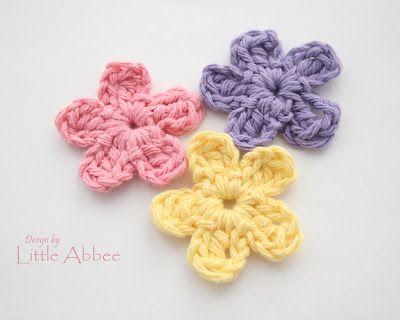 Little Abbee: Simple Flower Pattern | Crochet: Flowers | Pinterest ...