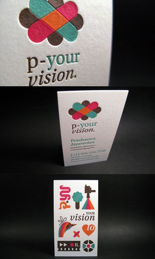 Four Color Letterpress | Business Cards Observer