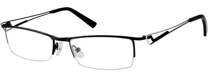 Super cool - Black 5939 Stainless Steel Half-Rim Frame | Zenni Optical Glasses-H3oRRkZU
