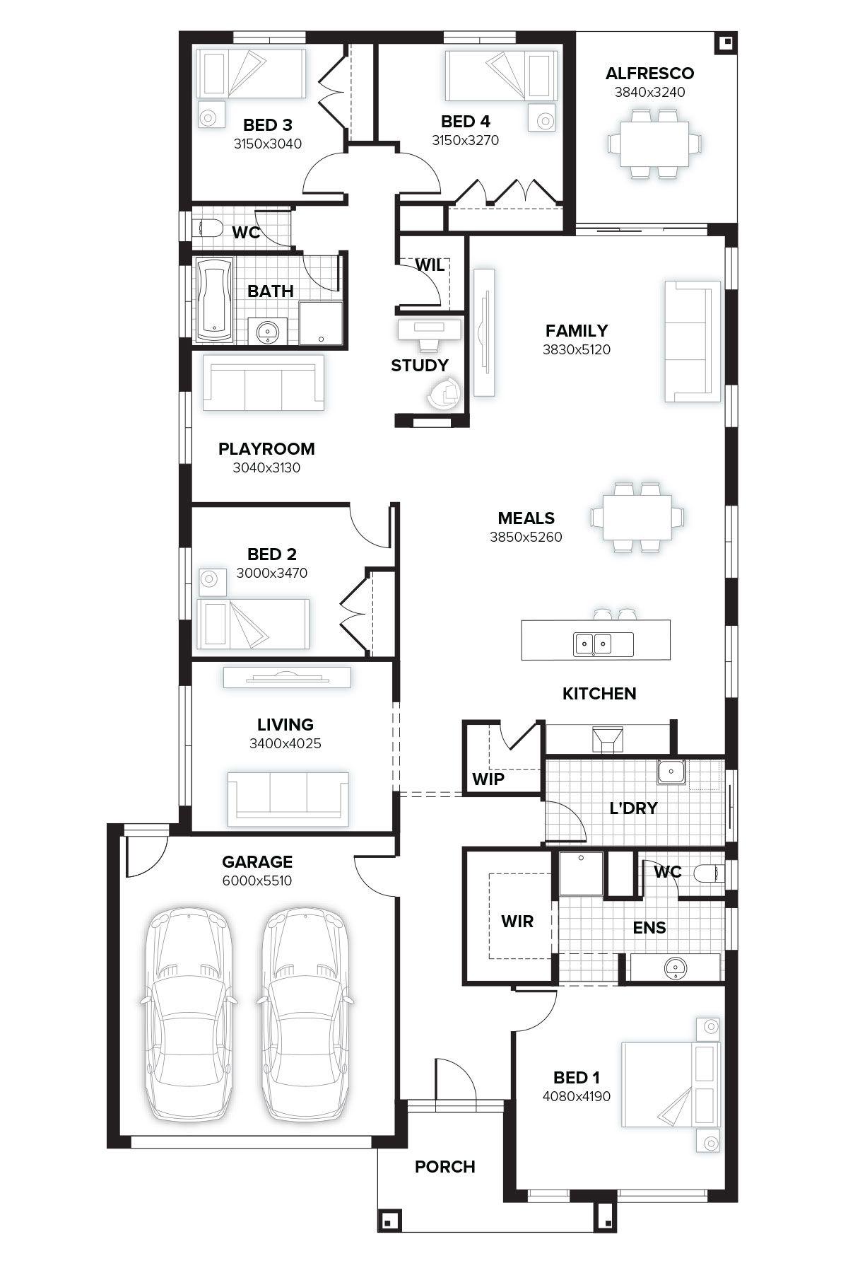 Malvern 267 New Home Design By Burbank Victoria House Floor Plans Floor Plans New Home Designs