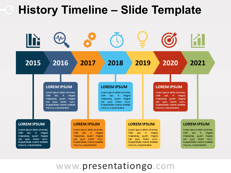 History Timeline For Powerpoint And Google Slides Presentationgo Com History Timeline Powerpoint Timeline Slide Timeline Design