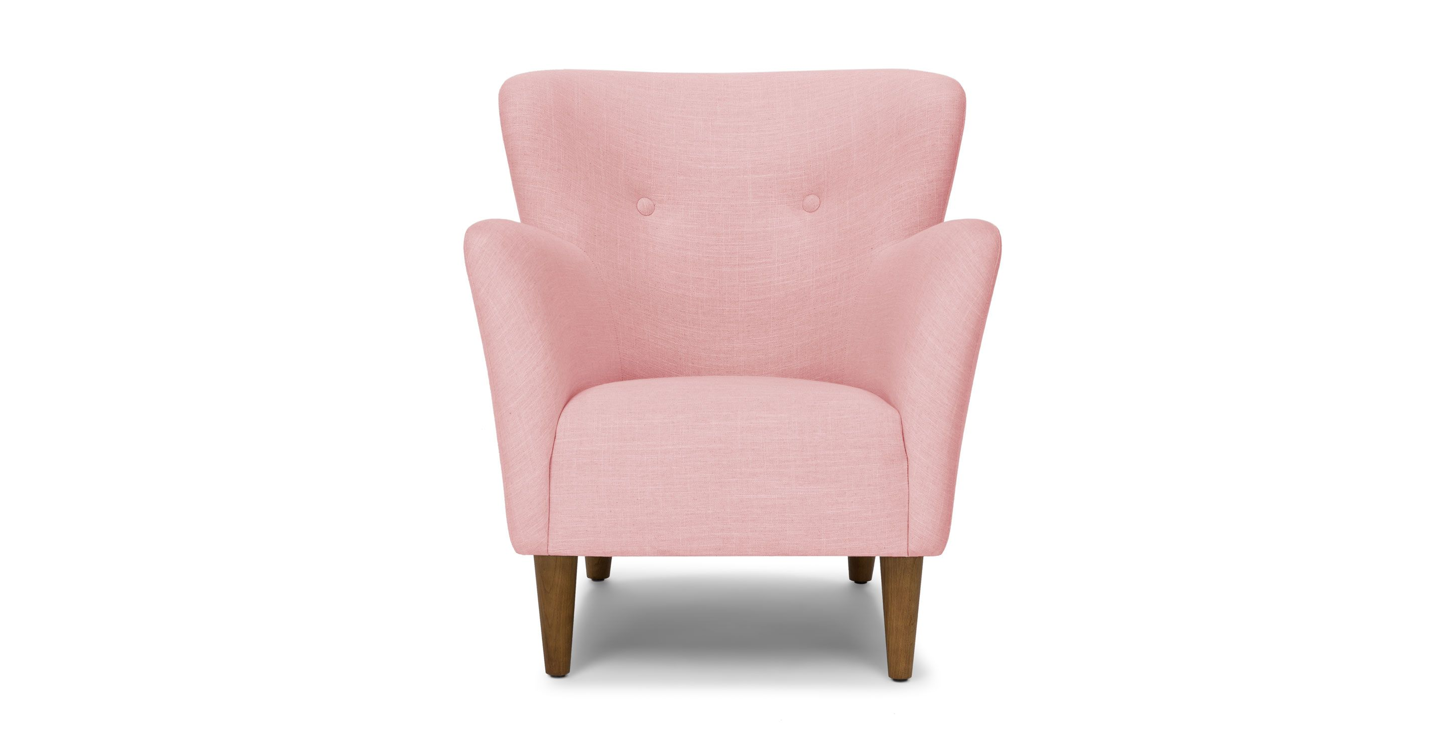 Scandinavian Accent Chair Pink Accent Armchair With Solid Wood Legs Article Happy