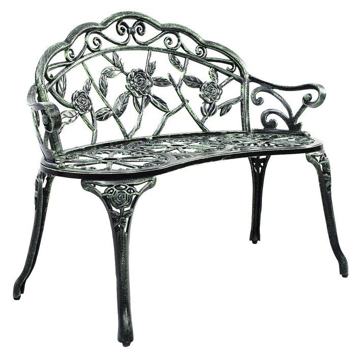 The Giantex Patio Garden Bench In Antique Green Is Constructed From