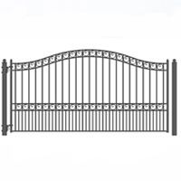 Brand New Paris Style Single Sing Iron Driveway Gate 12 X 6 1 4 Wrought Iron Driveway Gates Single Swing Iron Gate Design