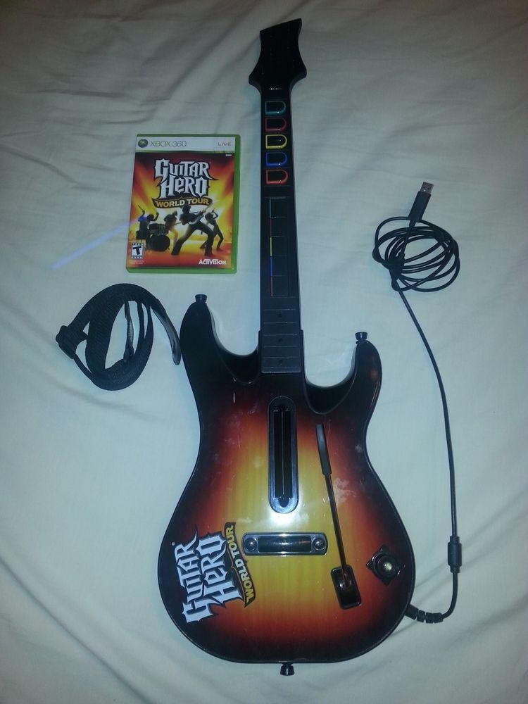 RARE XBOX 360 WIRED GUITAR HERO WORLD TOUR KIOSK DEMO