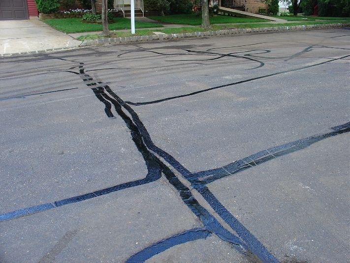 concrete patch asphalt driveway