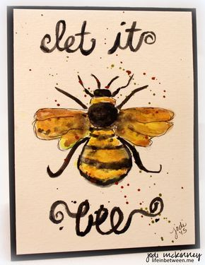 Let It Bee Bumble Watercolor