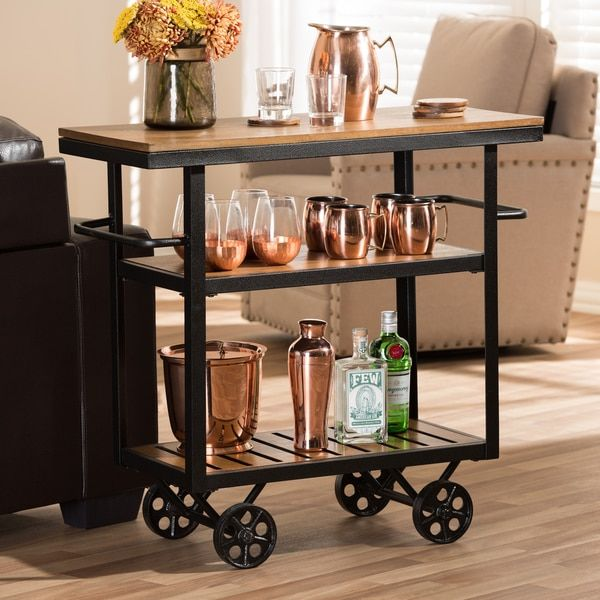 Industrial Kitchen Cart Bar Cart Serving By Maverickindustrial: Baxton Studio Ourania Rustic Industrial Style Antique