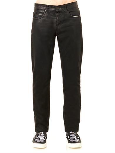 McQ Alexander McQueen Coated slim-leg jeans #MATCHESMAN #MATCHESFASHION
