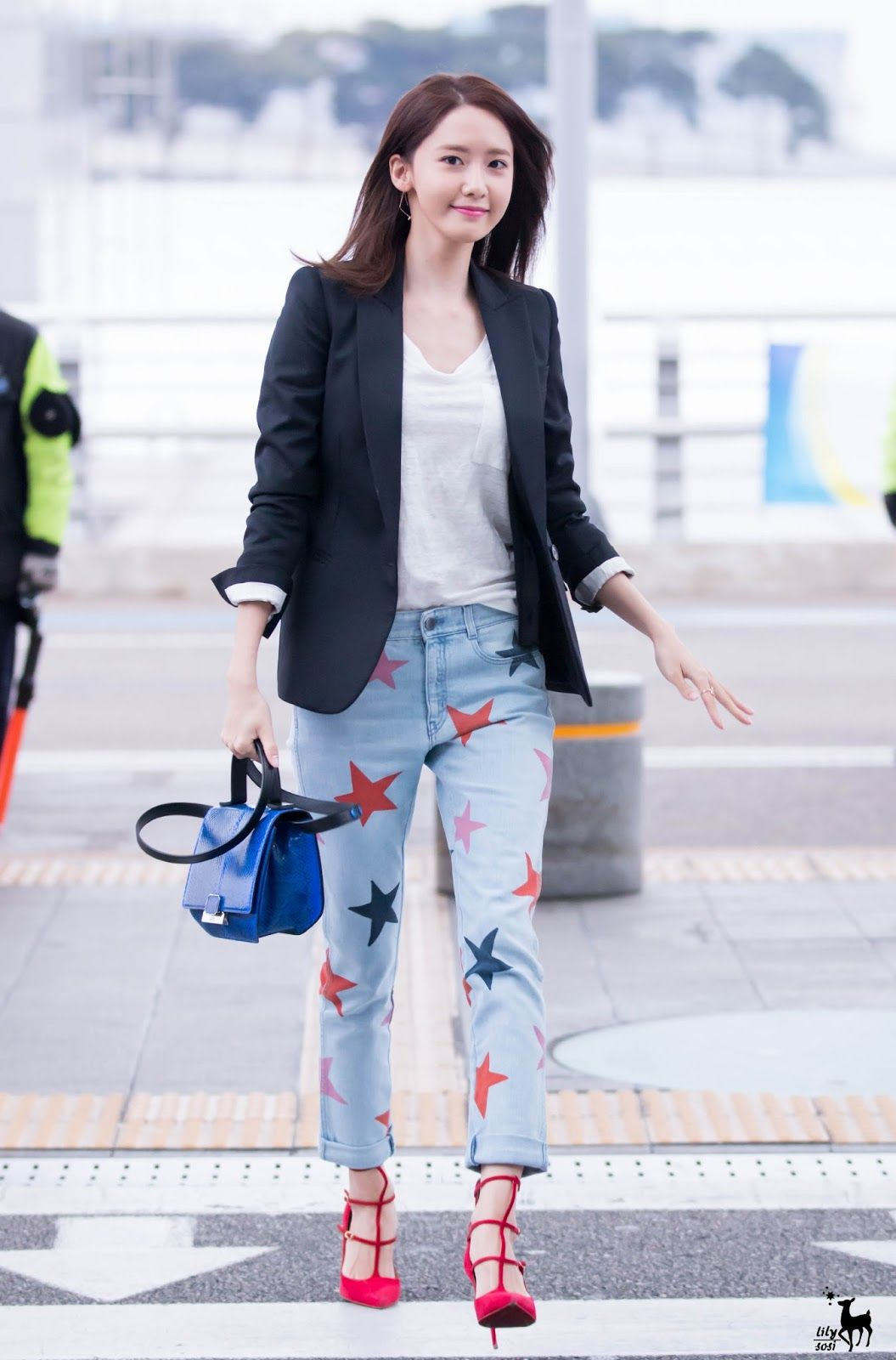 Official Korean Fashion Snsd Yoona Airport Fashion Snsd Yoona