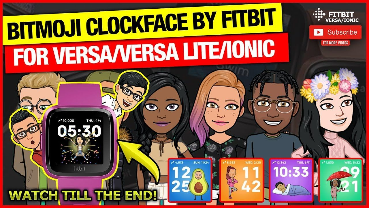 BITMOJI CLOCKFACE BY FITBIT *REVIEW* Fitbit, Protective