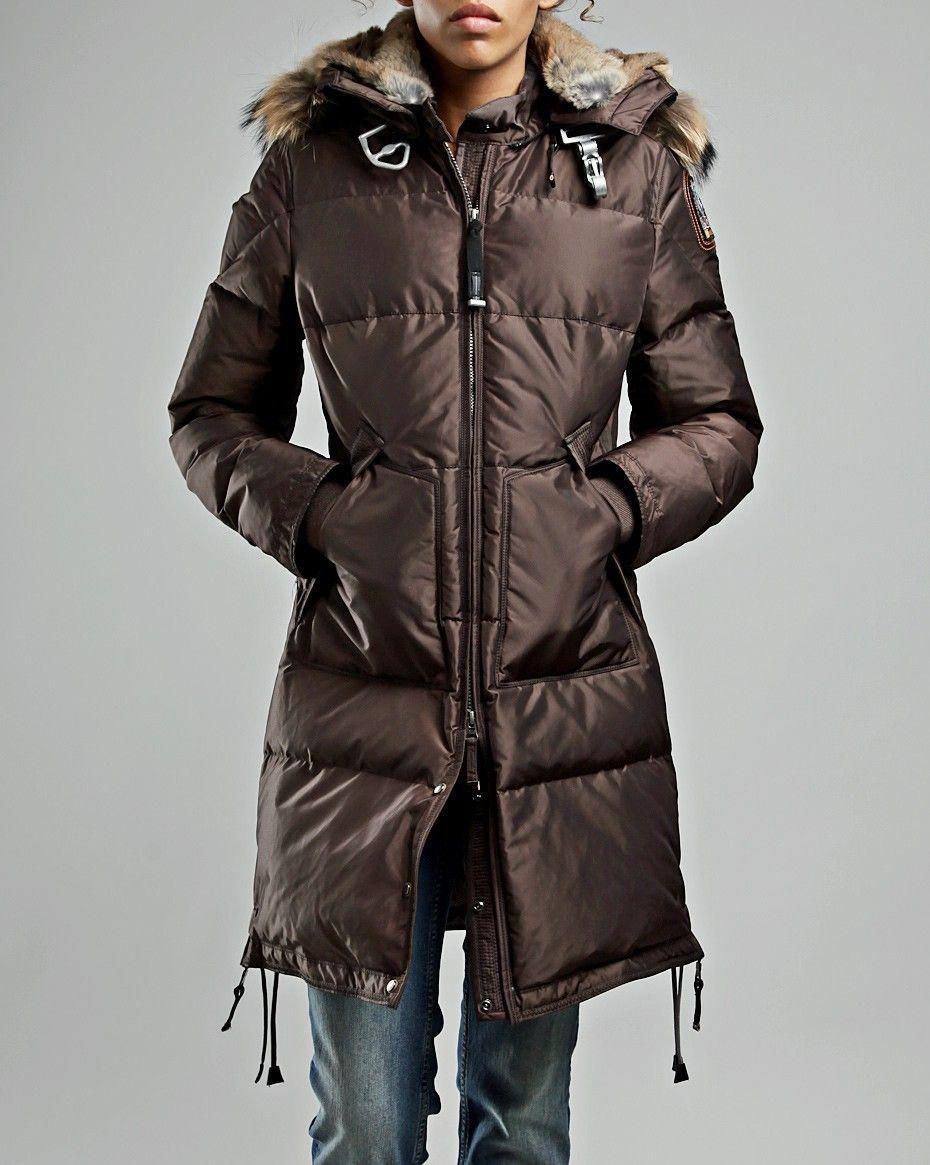parajumpers long bear coat brown women parajumper. Black Bedroom Furniture Sets. Home Design Ideas