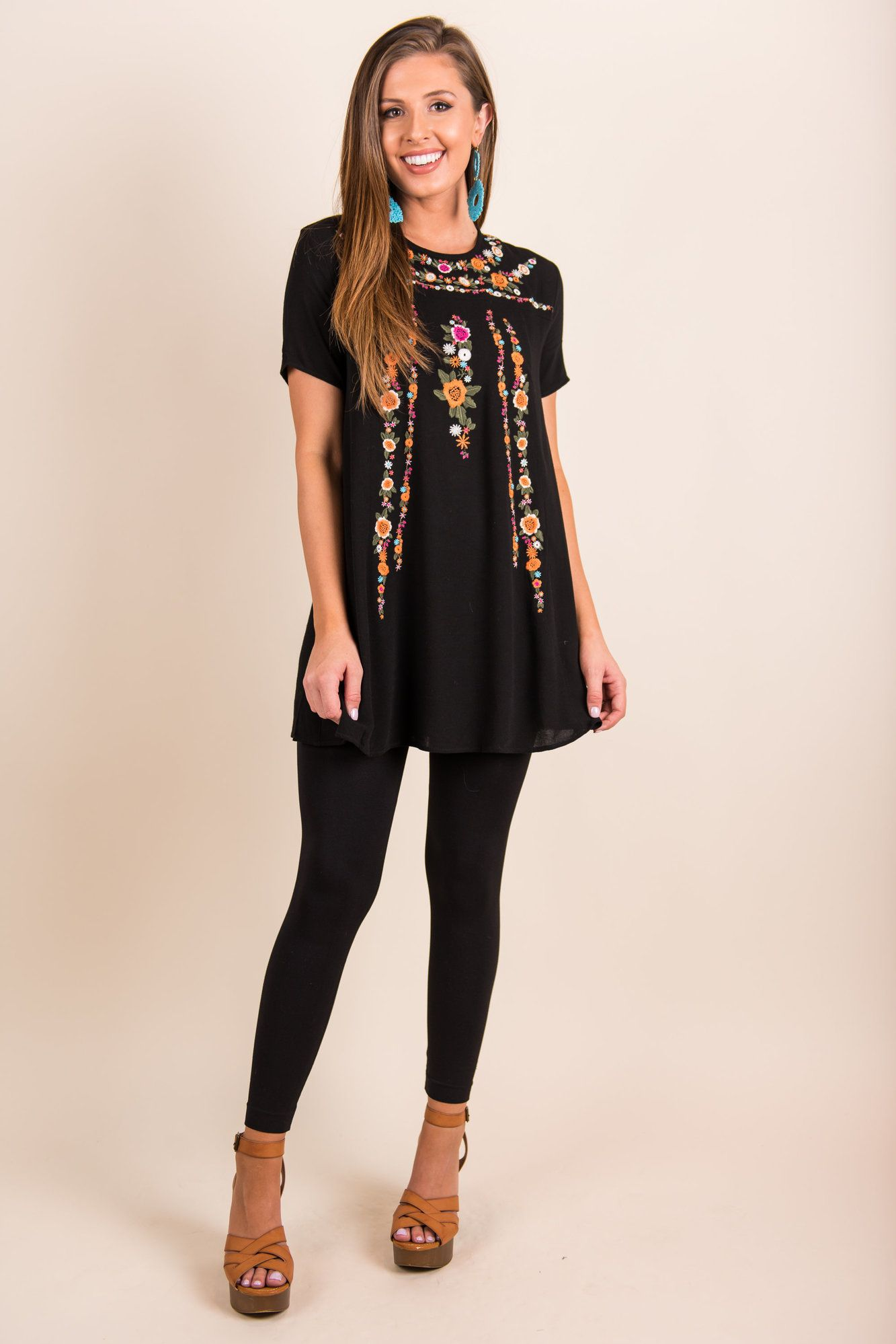 On the Border Classic Black Shift Dress
