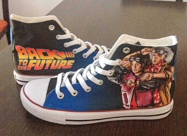 Back to the Future Custom Converse All Stars | Deine