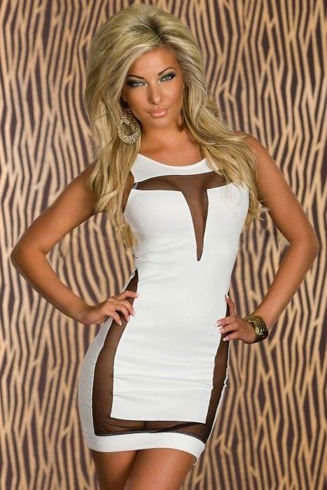 Mini Vestido Branco Sexy