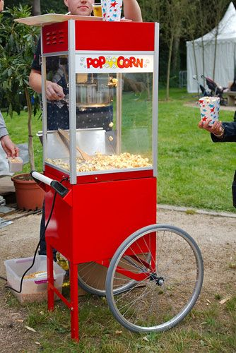 No carnival is complete without fresh popped popcorn.