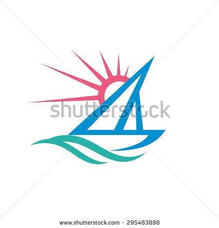 Sail boat - vector logo template concept illustration. Ship sign ...