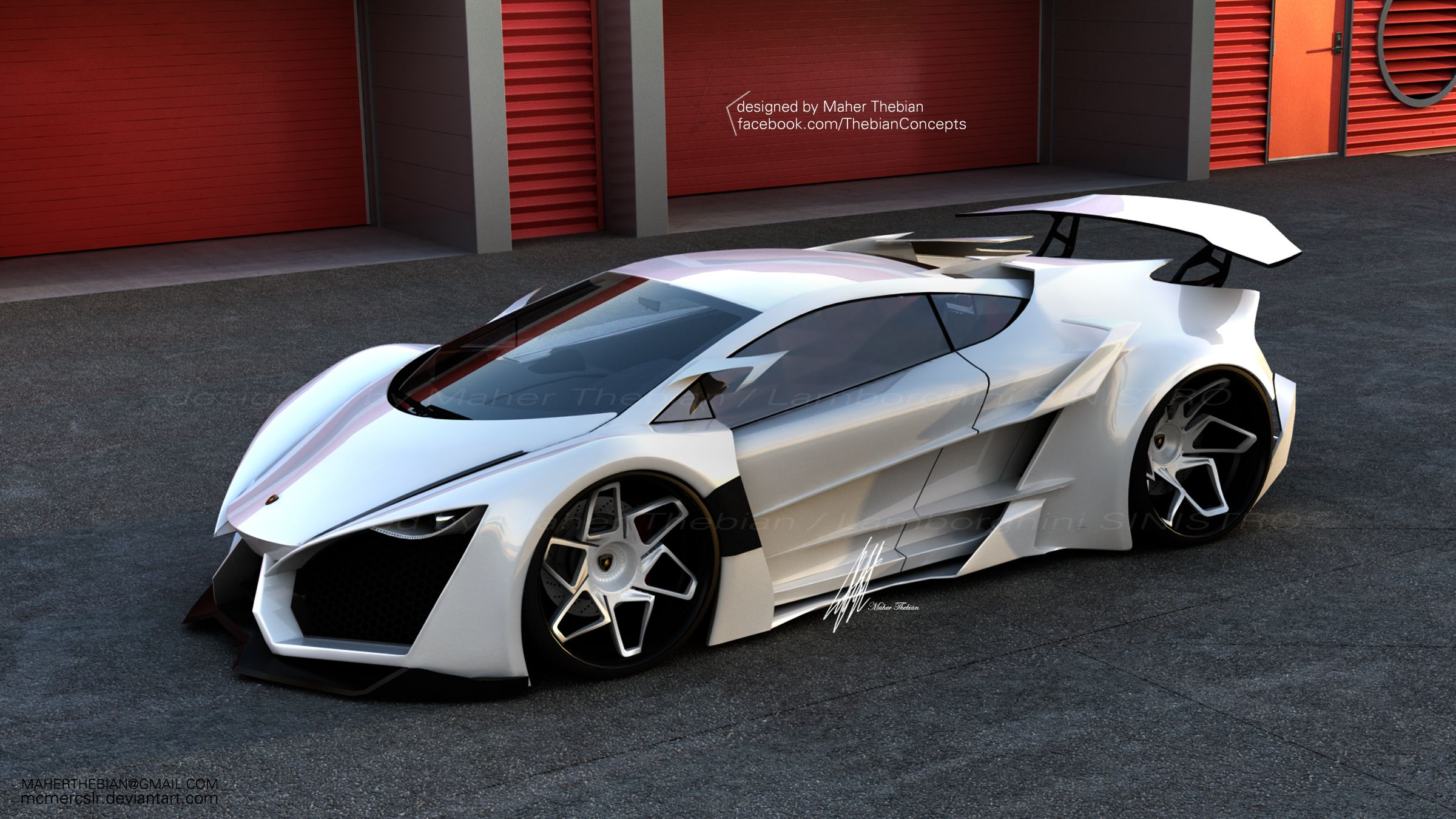 Lamborghini Sinistro Concept Design By Maher Thebian. Amazing Design
