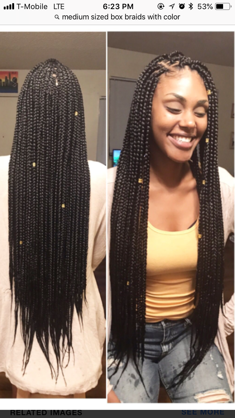 Slaytay In 2019 Box Braids Hairstyles Long Hair
