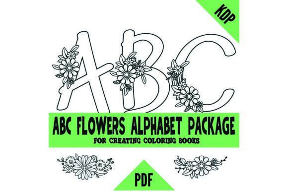 ABCs Alphabet Flowers KDP Coloring Pages #Sponsored , #PAID, #Flowers, #Alphabet, #ABCs, #Pages