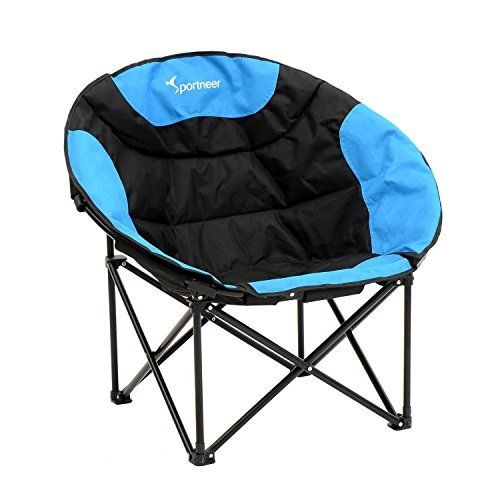 2 Person Camping Chair Wedding Covers Bournemouth Outdoor Padded Portable Folding Love Seat Club Blue Gray