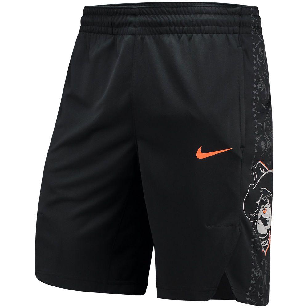 Men's Nike Black Oklahoma State Cowboys Replica On-Court Performance Basketball  Shorts - $44.99