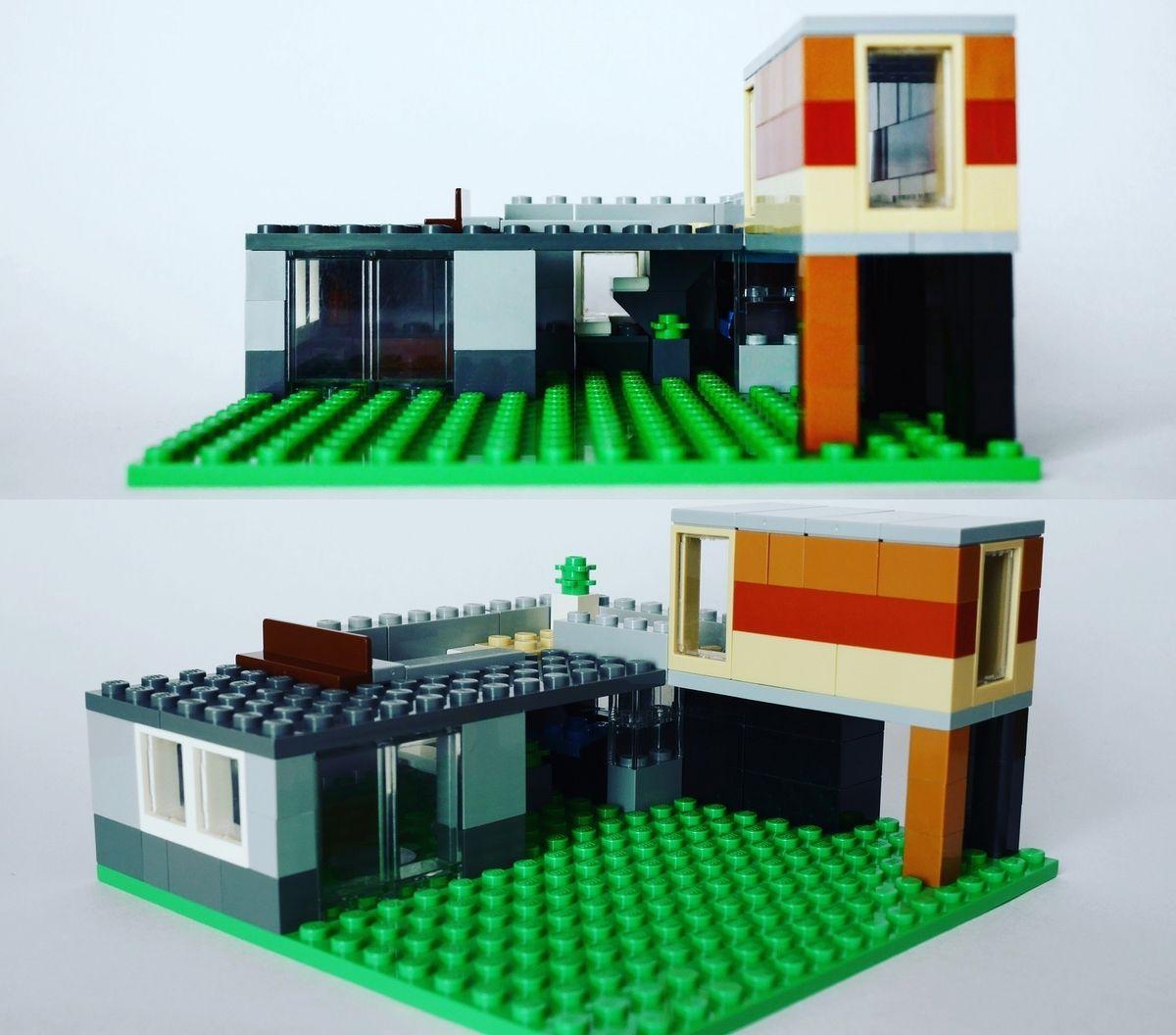 レゴ 家の作り方 Legoクラシック10698だけで作ったよ オリジナル説明