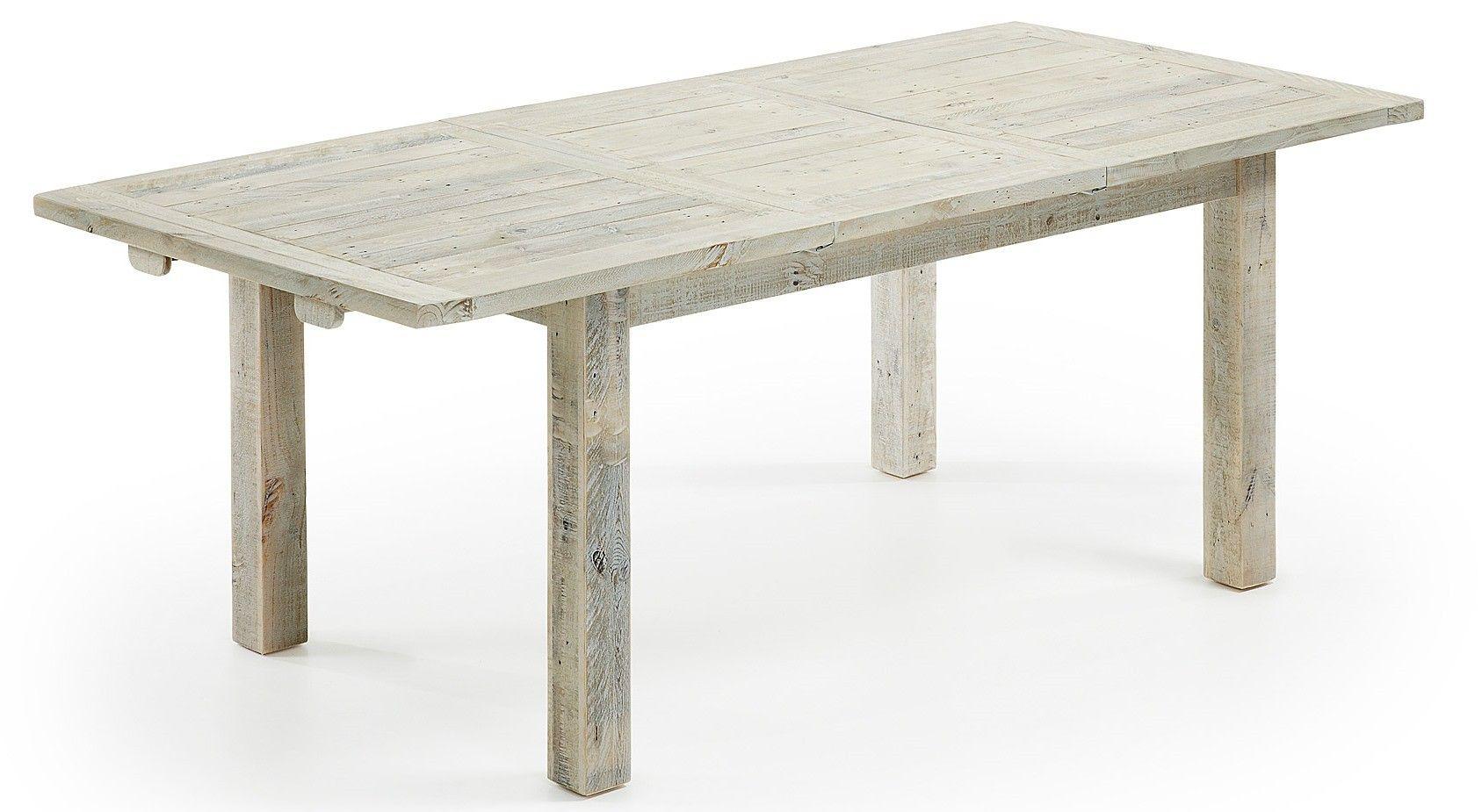 Eetkamer Tafel Uitklapbaar.Hycks Tafel Uitklapbaar Wood Clear Grey Laforma Eettafel