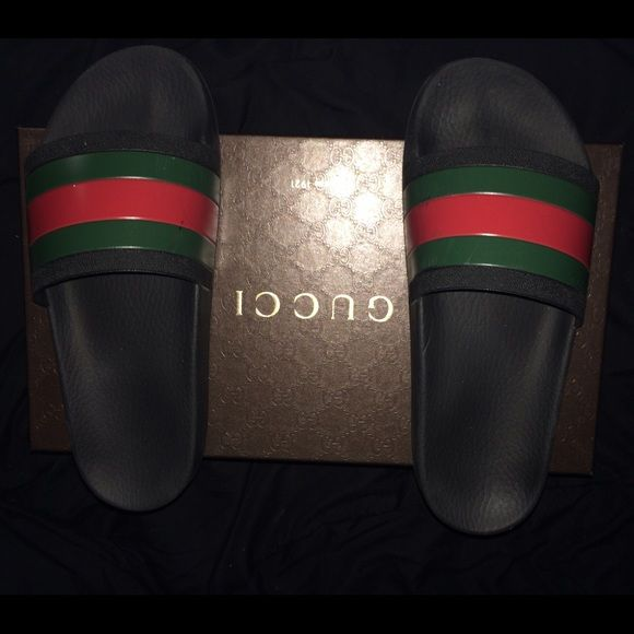 d197ad31b Gucci sandals Everyone's favorite sandal/ flip flop, minor flaws which are  scuffs and scratches Gucci Shoes Slippers