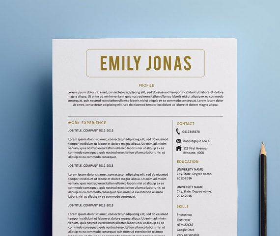 Another amazing sleek, sophisticated resume design from Catie - google docs resume cover letter template