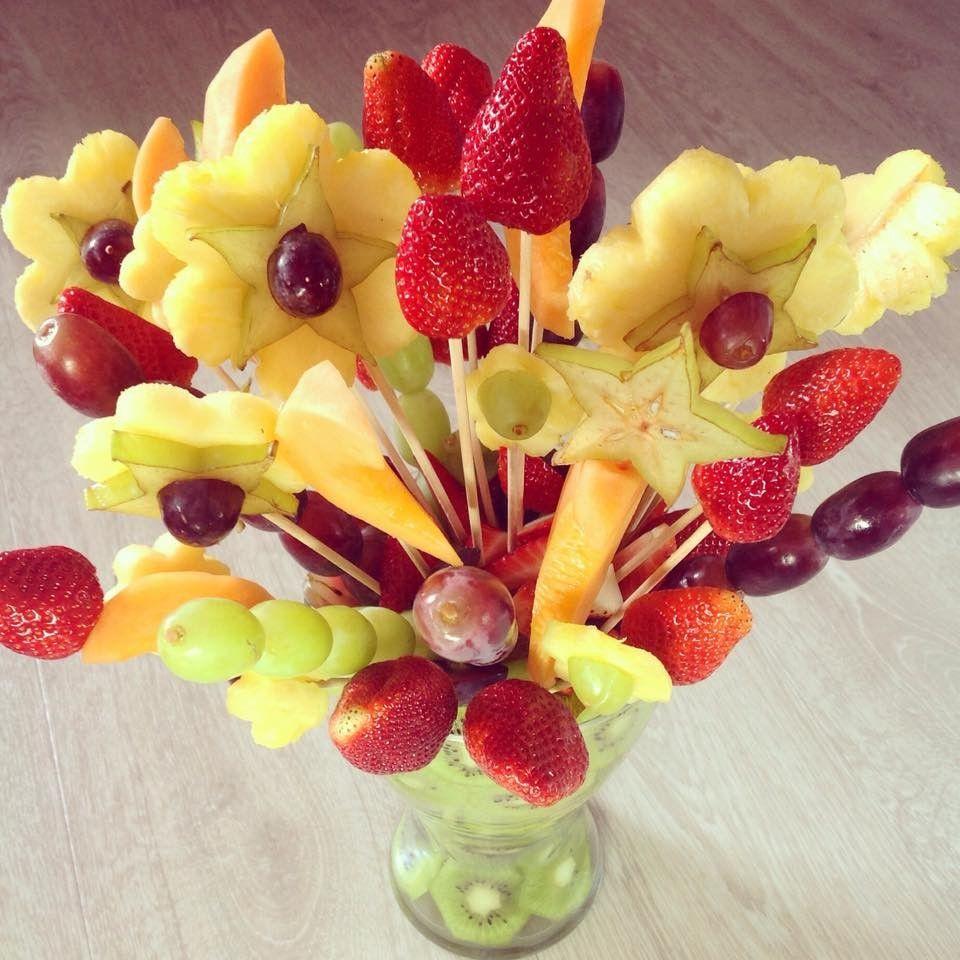 Fruit bouquet / Obst-Blumenstrauß - vegan, raw -