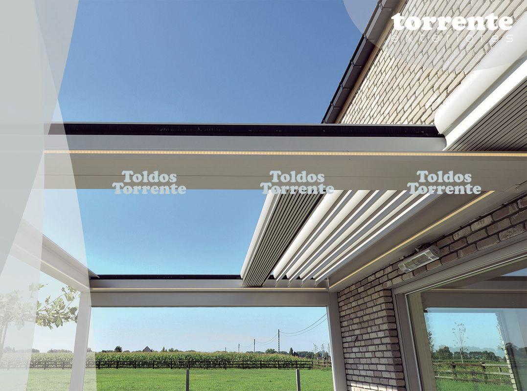 P rgolas aluminio bioclim ticas pergalum al10 orientables for Toldos para techos