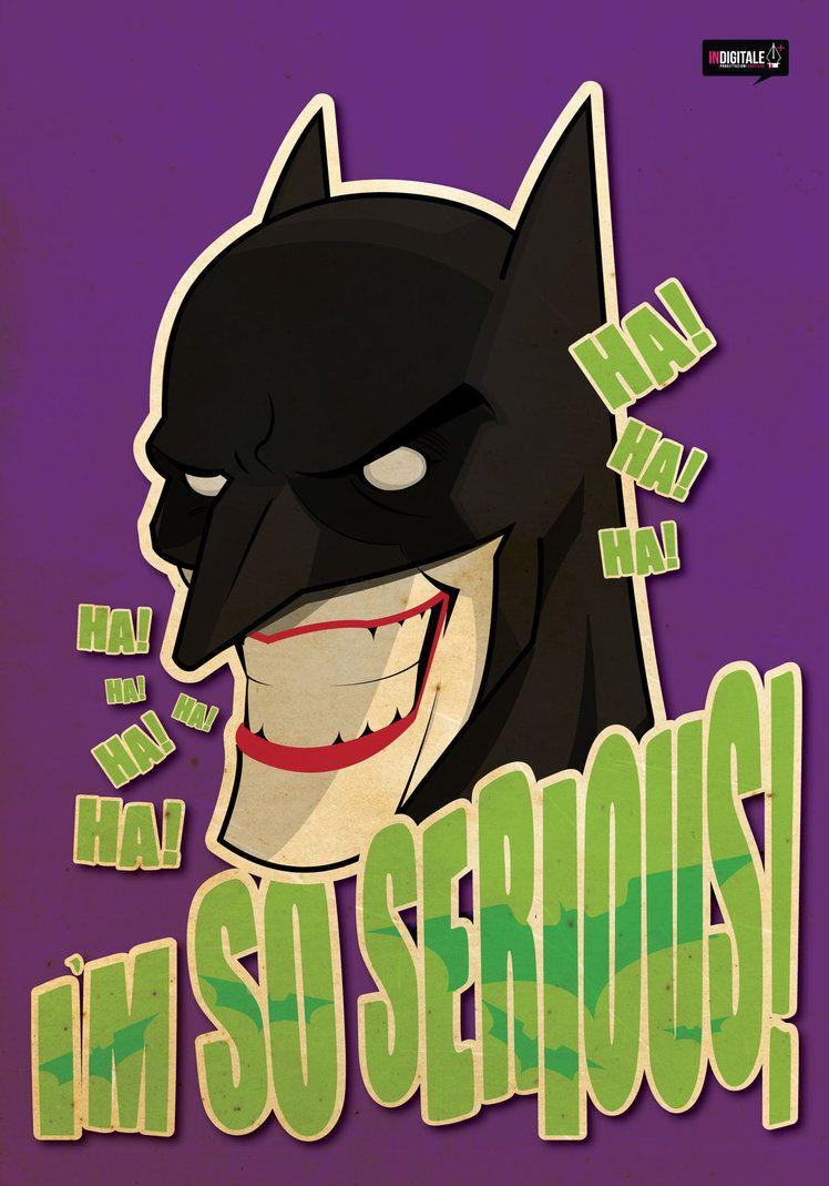 Batman/Joker Illustration Vector Adobe Illustrator CS6 Indigitale - Progettazioni Grafiche